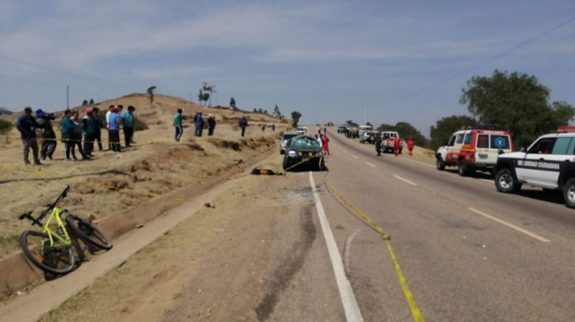 Periodistas mueren en un accidente de tránsito en ruta Sucre - Alcantarí