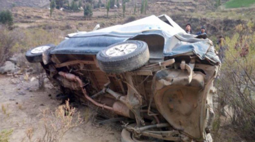Embarrancamiento de un minibús deja ocho fallecidos y 11 heridos
