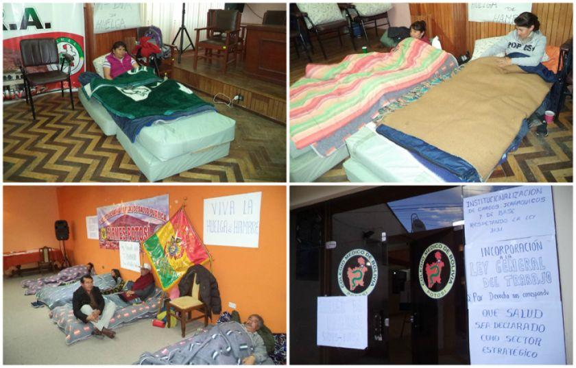 Médicos mantienen huelga de hambre y siguen en paro