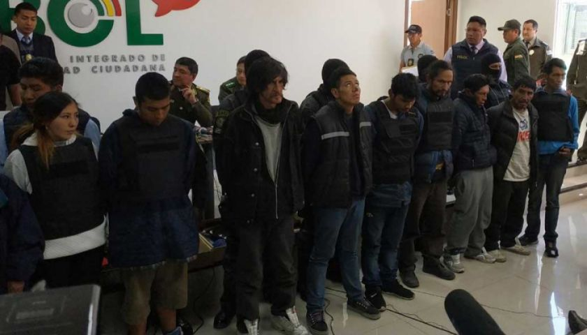 Capturan a una banda responsable de atraco y homicidio en La Paz
