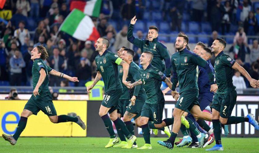 Italia gana a Grecia y sella el billete a la Eurocopa 2020