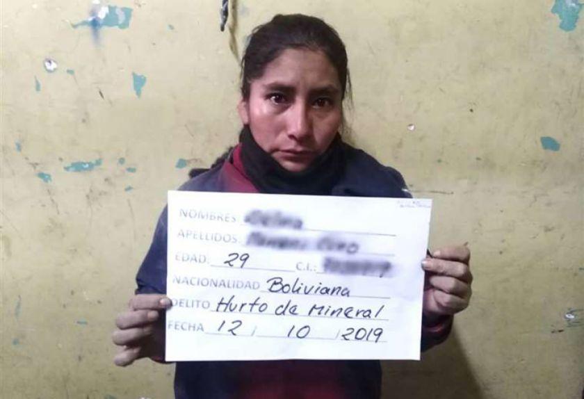 """Por primera vez cae una mujer """"jucu"""" en Oruro"""