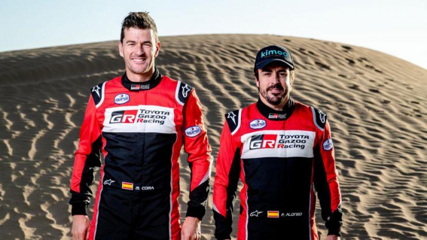 Fernando Alonso y Marc Coma disputarán juntos la edición 2020 del Dakar