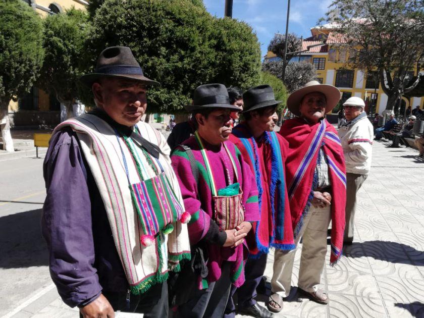 Campesinos originarios del Departamento de Potosí no cercaran la ciudad