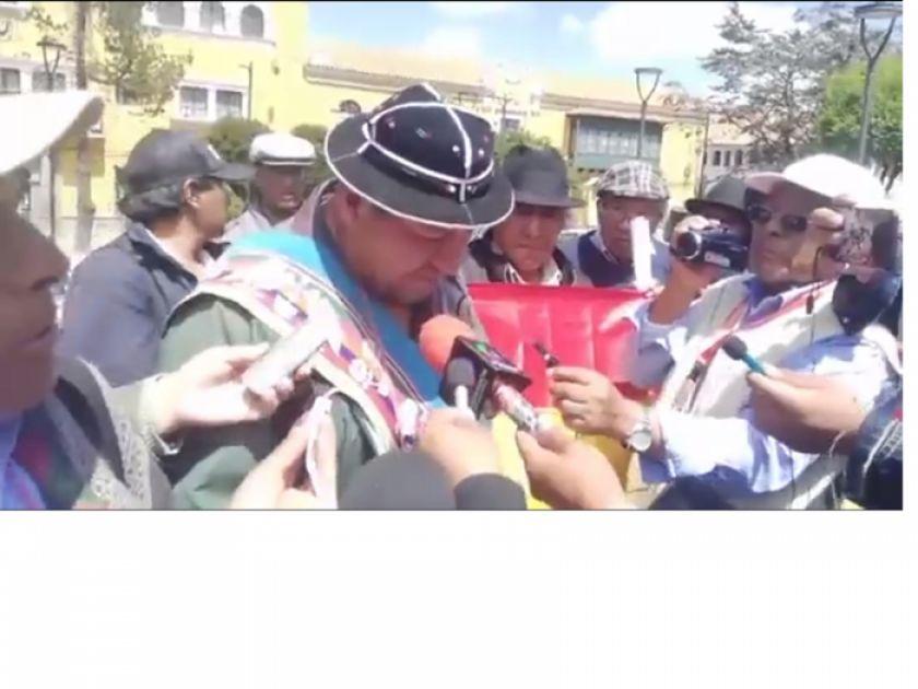"""Campesinos acusan a Evo de """"prostituir a la Pachamana"""""""