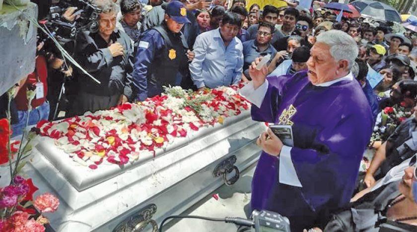 Cochabamba: dieron el último adiós a Limbert Guzmán