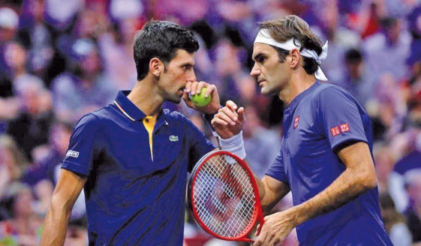 Federer y Djokovic miden fuerzas