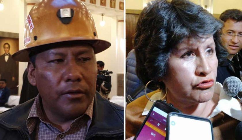 Añez posesiona a ministros de Minería y de Educación