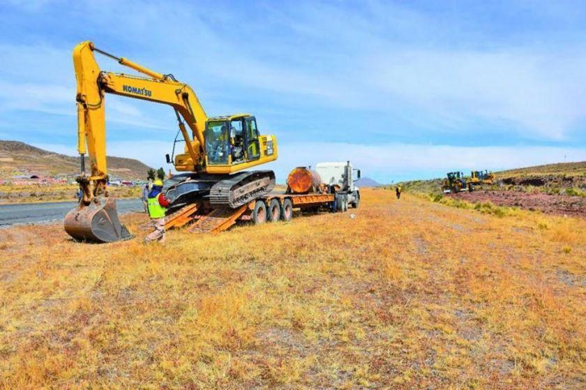 Retomaron los trabajos de construcción del aeropuerto internacional Potosí