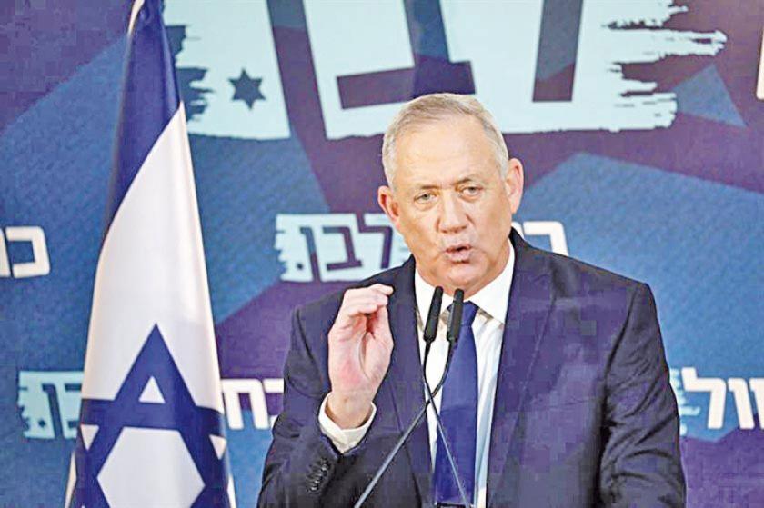 Gantz pide la dimisión  de Benjamín Netanyahu