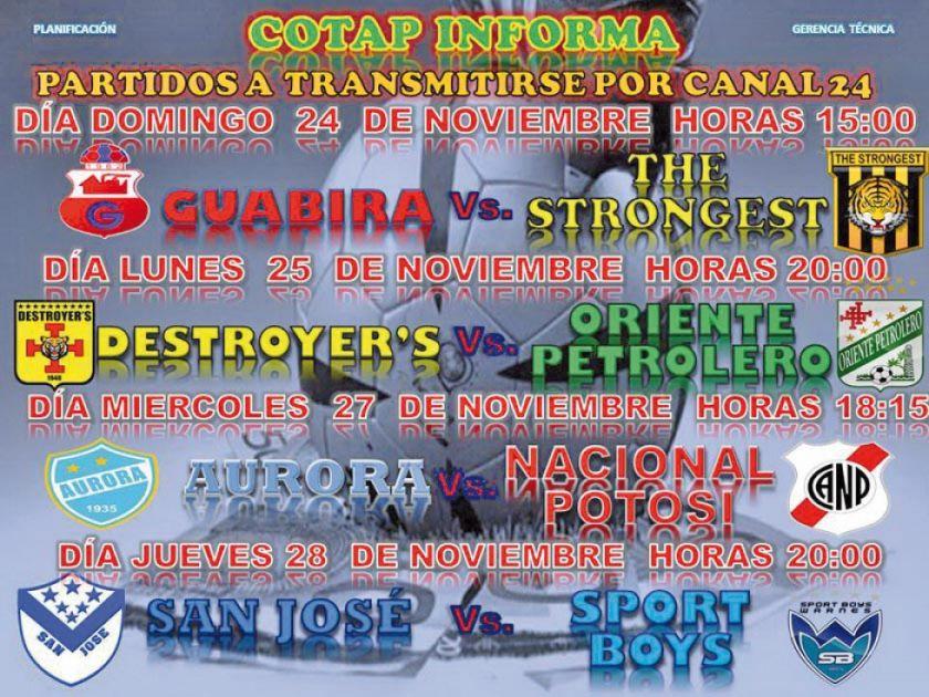 Hinchas de Nacional Potosí podrán seguir por Tv el choque contra Aurora