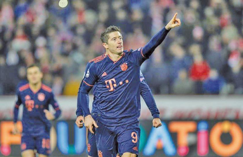 Lewandowski se sitúa líder en la Champions