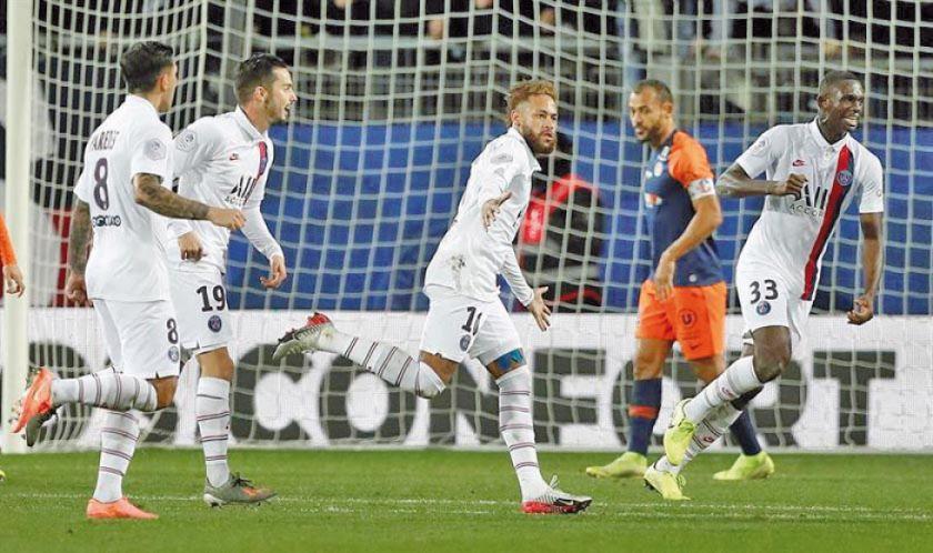 Neymar y Mbappe sacan de un apuro al París Saint Germain en su visita al Montpellier