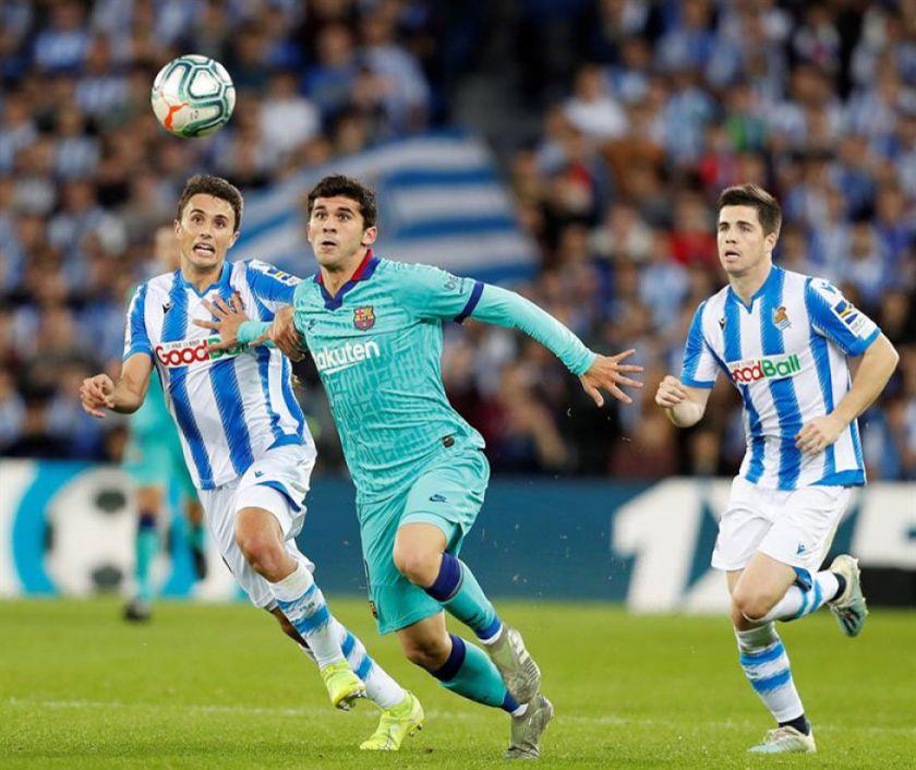 La Real Sociedad empata con Barcelona