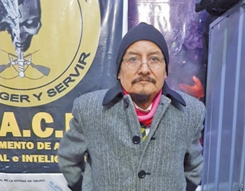Capturan y mandan a prisión al exprefecto de Oruro