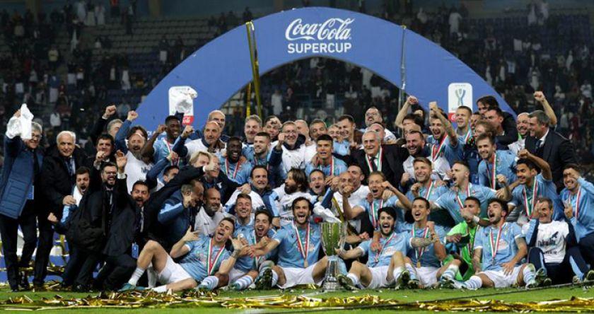 Lazio conquista su quinta Supercopa italiana