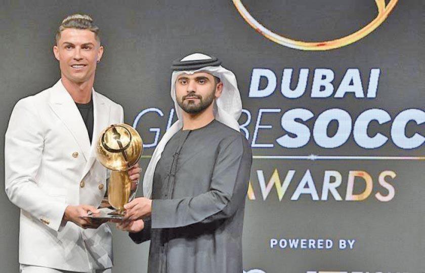 Cristiano gana el premio Globe Soccer a mejor jugador