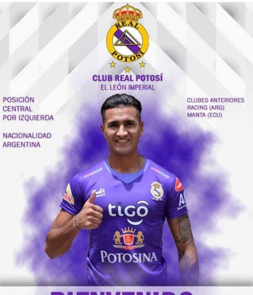 Nicolás Aguirre se suma a Real Potosí