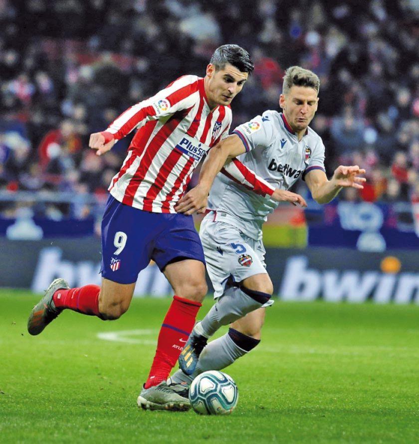 """Atlético gana a Levante en el """"Metropolitano"""""""
