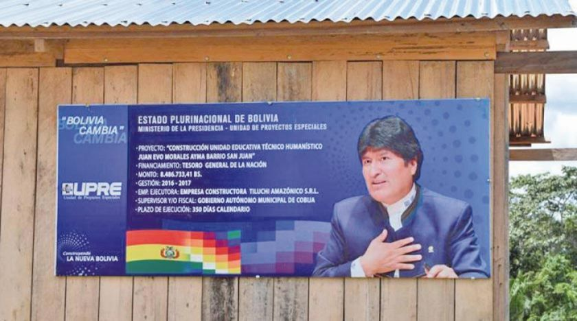 Hallan irregularidades en los proyectos UPRE que implican a Morales