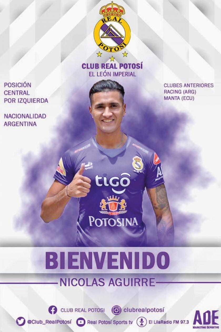 Nicolás Aguirre se suma a Real para el torneo Apertura