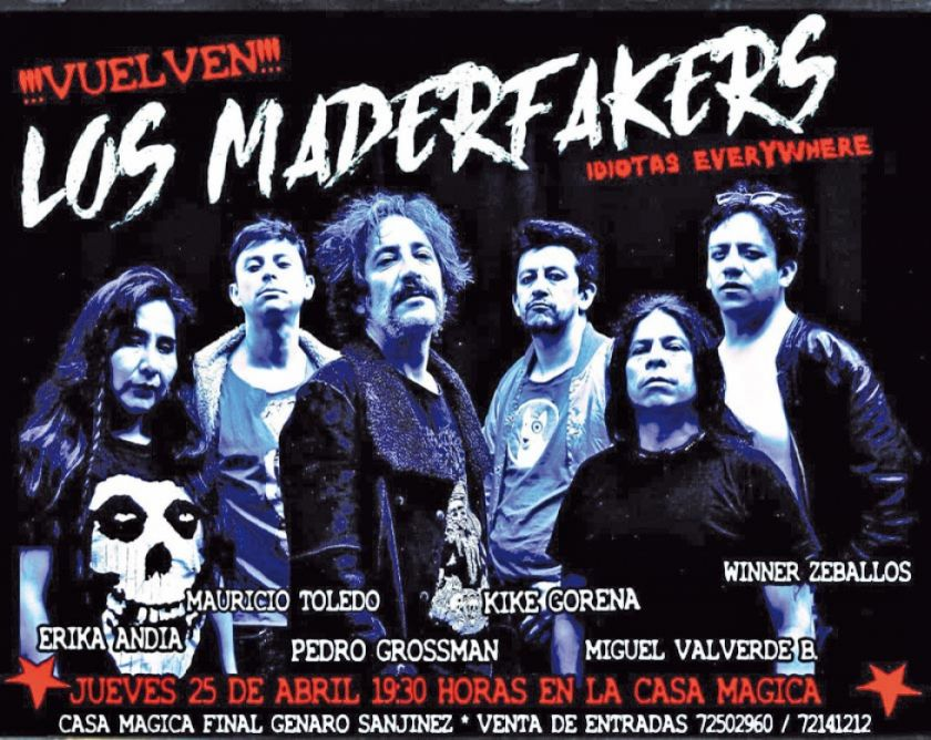 Los Maderfakers aterrizan en los  festivales de Chile