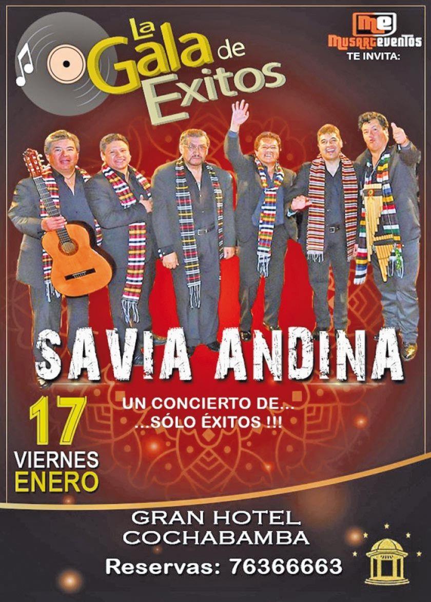 Savia Andina ofrecerá un concierto de grandes éxitos