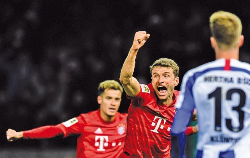 Bayern aplasta 4-0 a Hertha Berlin en la Bundesliga