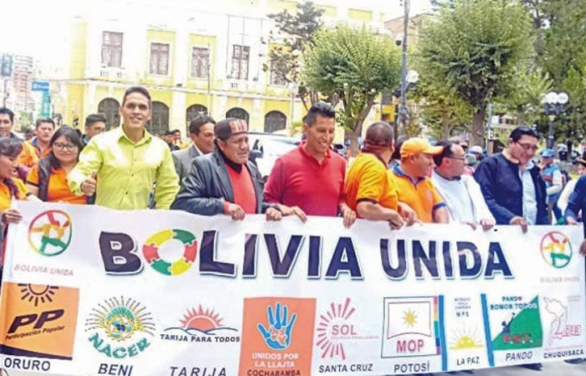 Bolivia Unida decidirá el jueves 23 si va sola o apoyará a un candidato