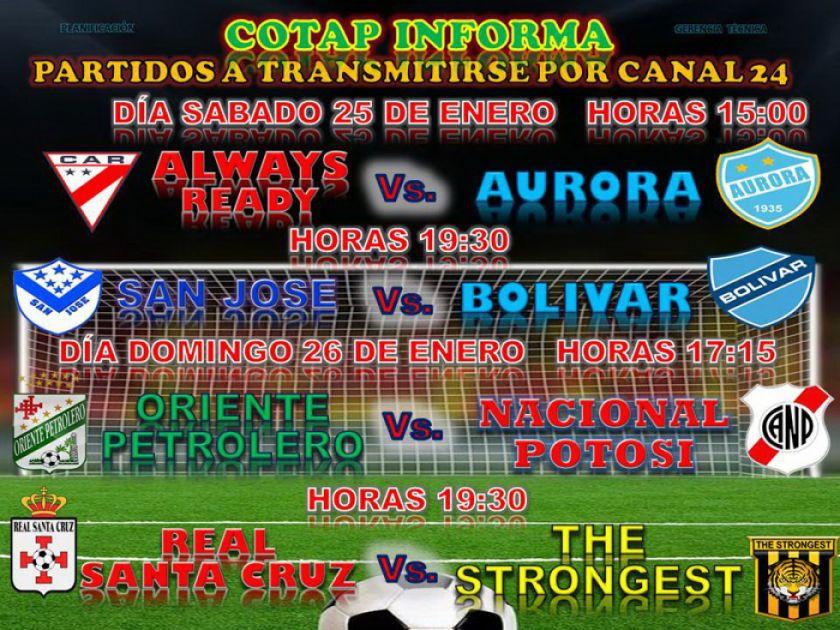 Cotap Tv transmitirá el partido de la banda roja