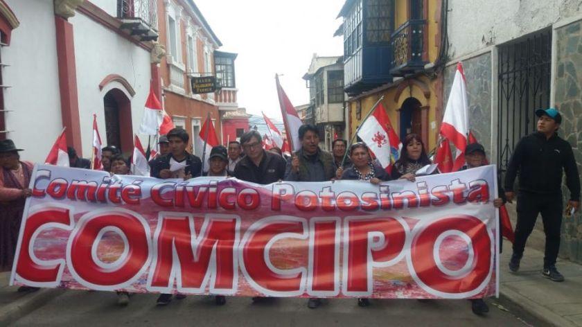 Comcipo retira su apoyo a Añez y advierte movilizaciones si no atiende sus demandas