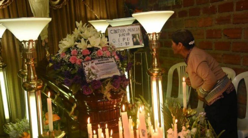 Cochabamba: velan a víctima de feminicidio en Ironcollo