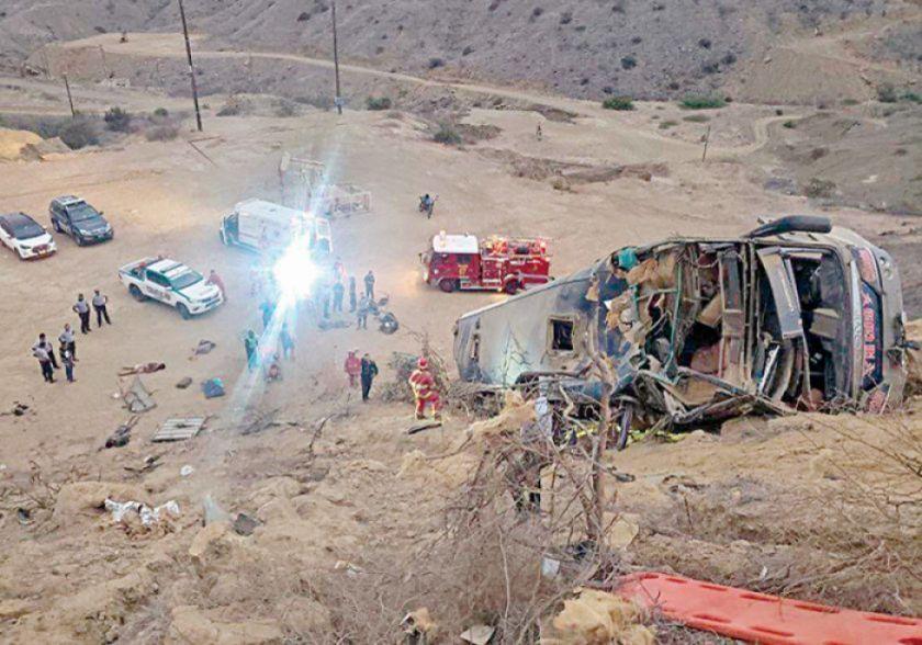 Bus del club ecuatoriano Barcelona SC sufre fatal accidente