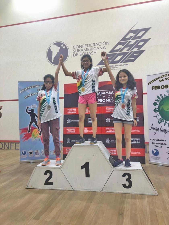 La potosina Marcela Flores compite por Bolivia en el Sudamericano de Squash