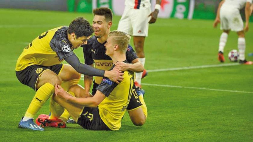 Borussia Dortmund vence por 2-1 al  París Saint-Germain