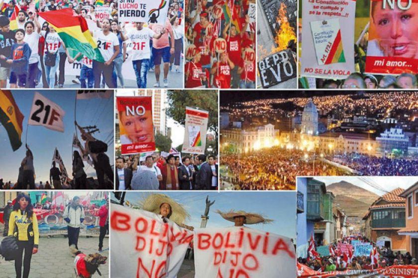 Concentraciones por el 21 de febrero se centran en La Paz y Santa Cruz