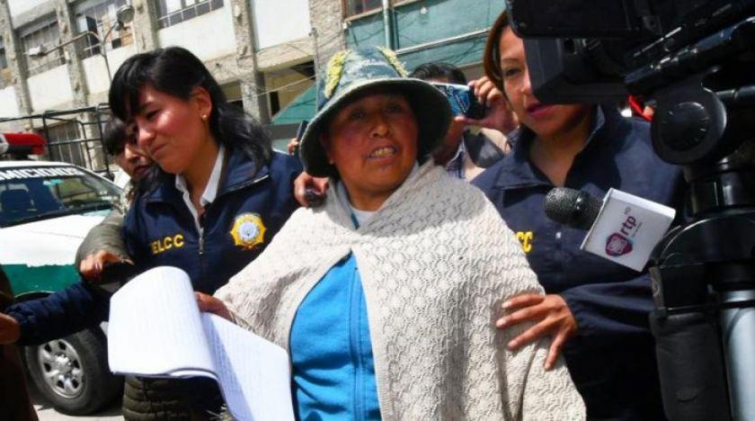 Aprehenden a Felipa Huanca por desfalco al Fondo Indígena