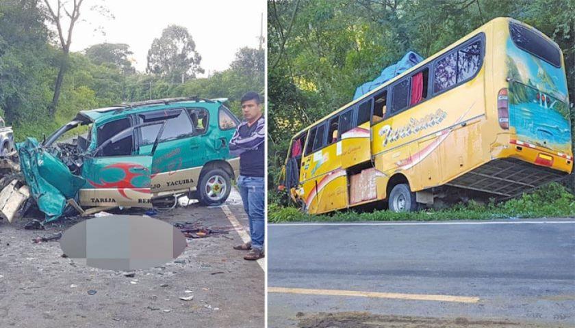 Accidente deja seis muertos en el camino Tarija - Bermejo