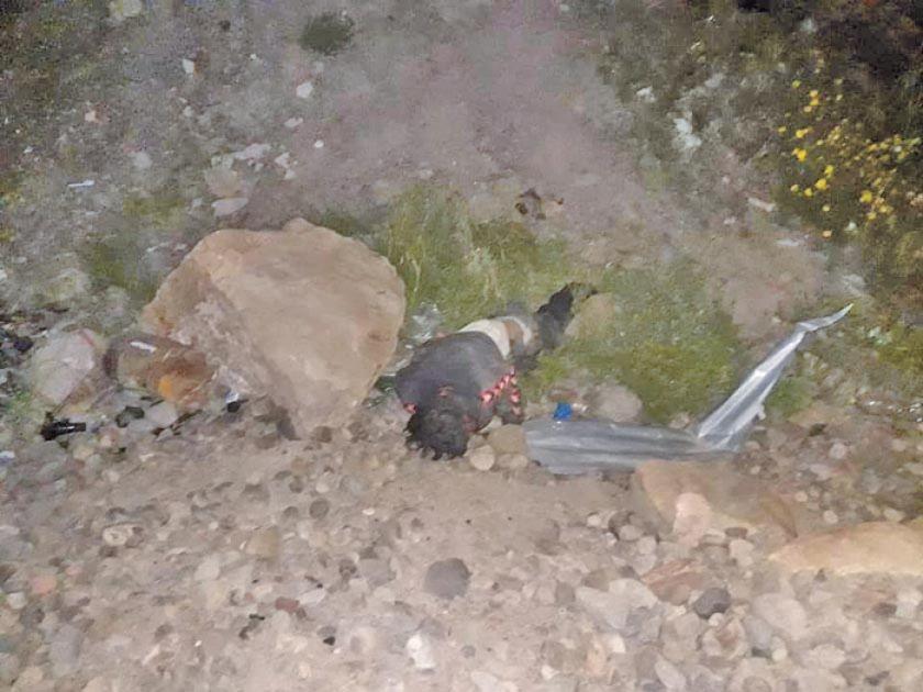 Policías rescatan a un hombre moribundo en la zona Velarde
