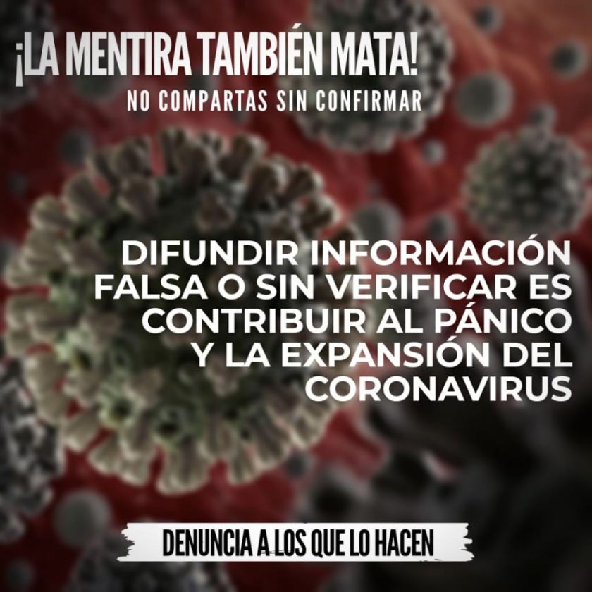 La desinformación incrementa el riesgo de contraer coronavirus