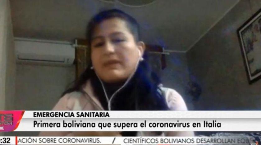 Jhaqueline Santos es la primera mujer boliviana que supera el coronavirus en Italia