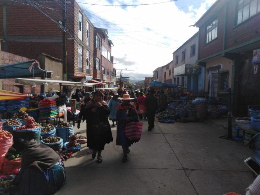 Así está el Mercado Uyuni y sus cercanías