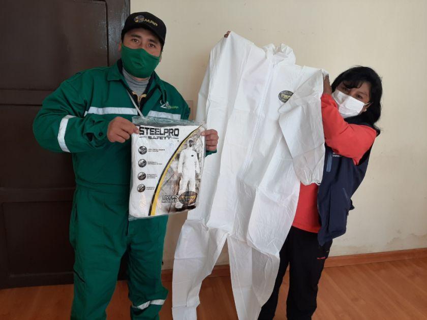 Defensoria entrega implemento de bioseguridad a EMAP