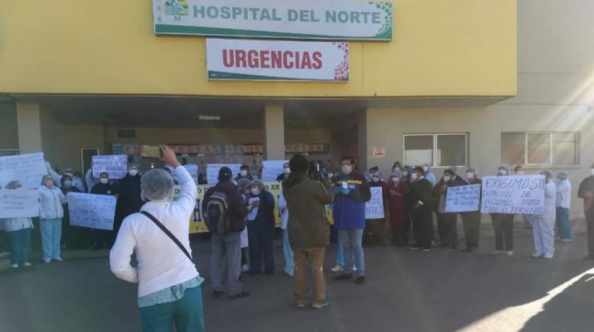 Médicos y trabajadores en salud del hospital del Norte protestan por falta de equipos de bioseguridad