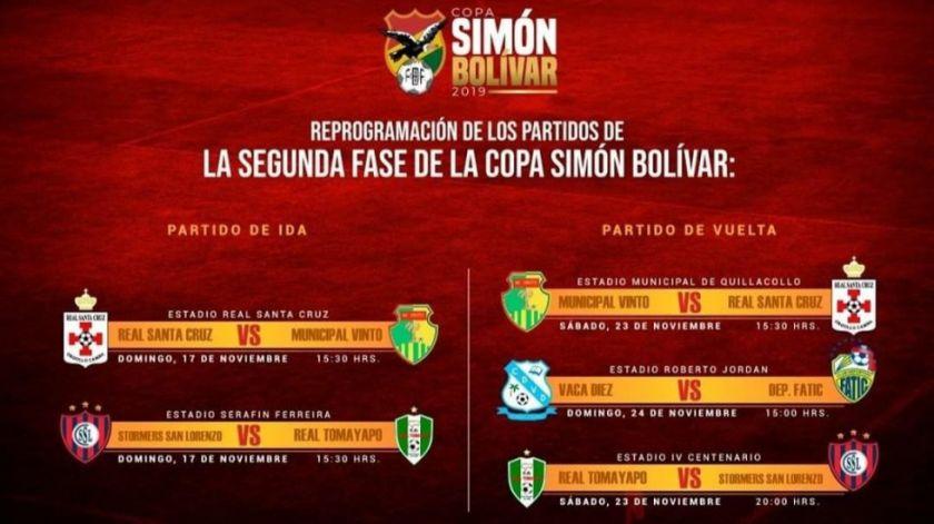 La Copa Simón Bolívar se jugaría en tres meses