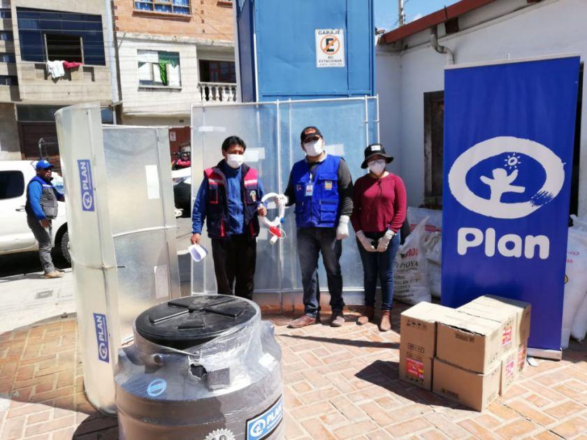 Plan Internacional Inc. Bolivia entrega insumos y alimentos a familias