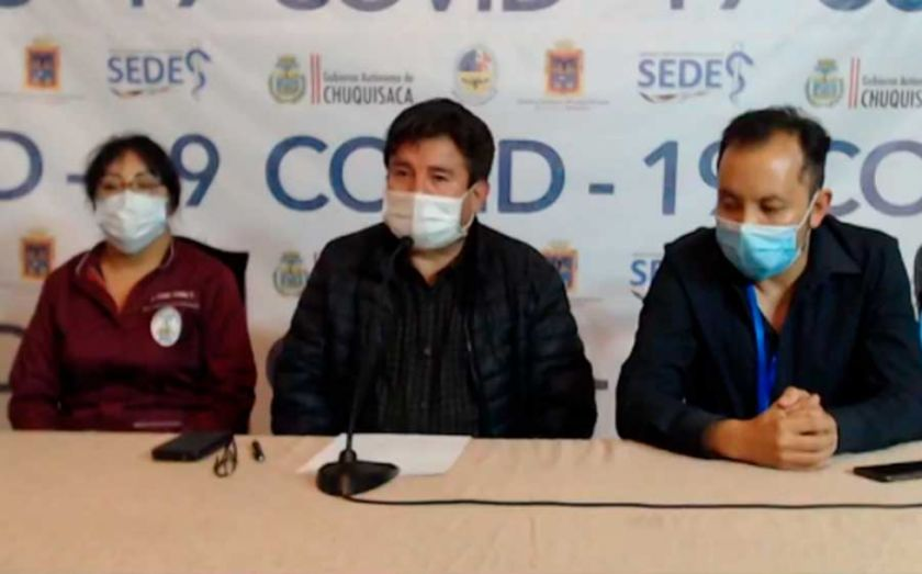 Chuquisaca confirma su primer deceso por coronavirus