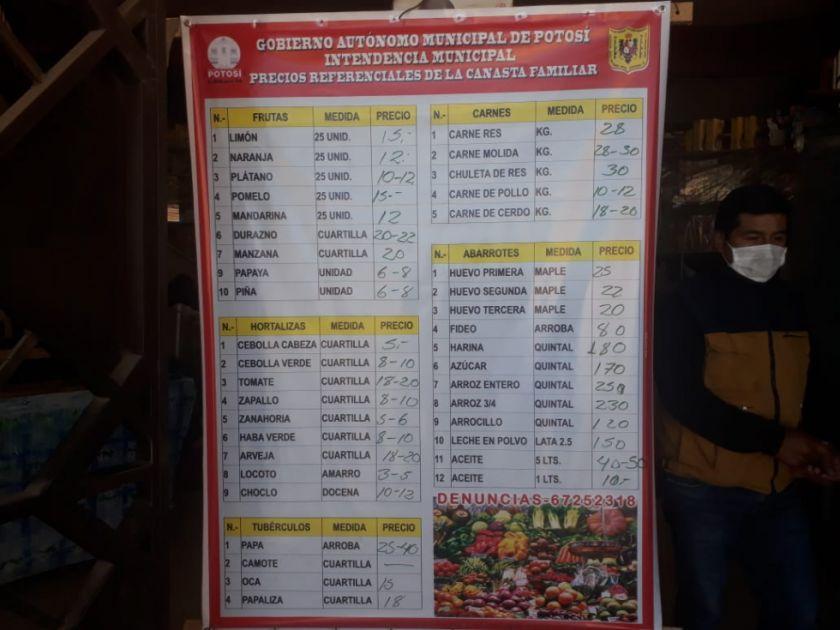 Intendencia pone carteles informativos de precios en mercados