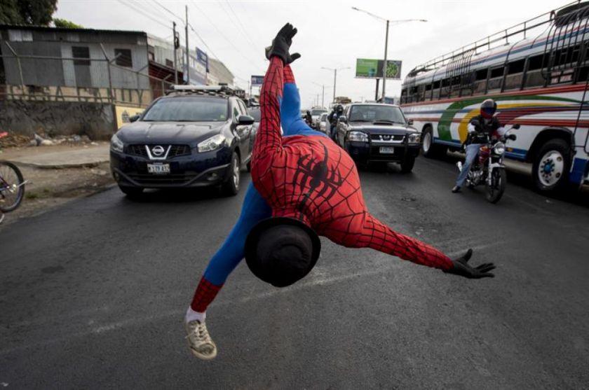 Spiderman y el ejército de subempleados que afecta el COVID-19 en Nicaragua