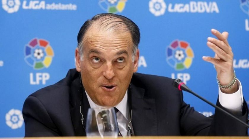 """Javier Tebas: """"Es casi nulo el contagio de coronavirus en el fútbol"""""""